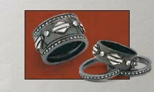 """Ladies Spirit of """"Harley"""" Stacking Ring Silver Version from Franklin Mint - SZ 8"""