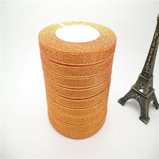 """NEW DIY 5yards 3/8 """"10mm glitter ribbons Bling for Bows and Wreaths decorated L1"""