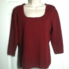 INC International Concepts ~ Prairie Red Knit Top ~ Size M ~ NWT!