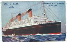 "SHIPPING - White Star Line R.M.S. ""HOMERIC"" Artist Montague BLACK Postcard"
