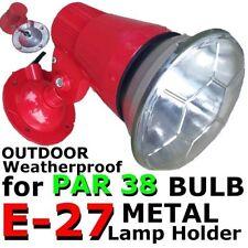 E-27 RED METAL lamp holder ES ADJUSTABLE weatherproof PAR 38 spotlight Bulb DIY