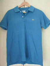 mens LACOSTE BLUE COTTON POLO SHIRT SIZE (5) MEDIUM TO LARGE