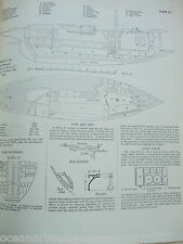 ANTIQUE PRINT C1895 DIXON KEMP YACHT & BOAT SAILING RHEOLA BOAT PLAN DIAGRAM