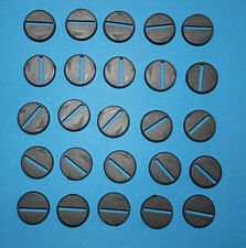 25 (Twenty Five) 20mm Round Slotta Bases for Wargaming and Roleplaying NEW