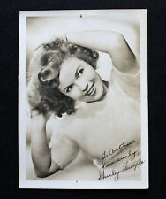 Original Vintage SHIRLEY TEMPLE Autograph Signed 5X7 B&W Photo JSA Authenticated