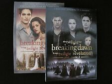 NEW - Twilight: Breaking Dawn Part 1 and Part 2 (2-disc Editions)