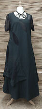 ZUZA BART*DESIGN EXCLUSIVE BEAUTIFUL 100% COTTON MAXI DRESS*ANTHRACITE* LARGE