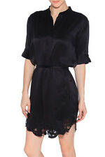 IRO OLYMPE BLACK SHIRT DRESS FR 36 UK 8