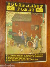 1960 publication BOOKS ABOUT FORDS includes lots Ford interesting info FREE POST