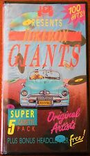 100 Hits Jukebox Giants Cassette 5 Pack Inc Head Cleaner Made in Australia JB350