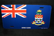 CAYMAN ISLANDS FLAG METAL NOVELTY LICENSE PLATE TAG FOR CARS