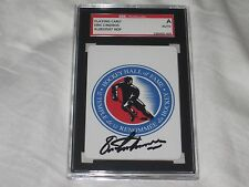 ERIC LINDROS AUTOGRAPHED HALL OF FAME CARD-SGC SLABBED-ENCAPSULATED-HOF-RARE
