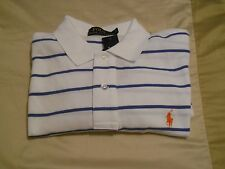 Polo Ralph Lauren SS Golf Shirt White/Blue Striped Men's L NWT
