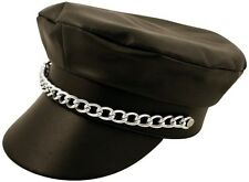 PVC Leather Look YMCA Gay Village People Biker Hat Cap - Fancy Dress H07 073