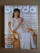 BURDA n°4 2000 con cartamodelli  [C56]