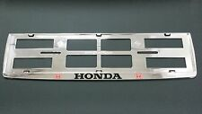 2X HONDA EUROPEAN LICENSE NUMBER PLATE SURROUND FRAME HOLDER.