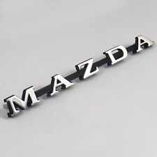 MAZDA , R100 metal Boot Badge chrome, New, for Rotary 1200 1300 10A Rotor Trunk