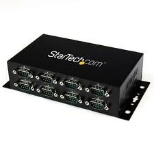 StarTech ICUSB2328I 8 Port USB to DB9 RS232 Serial Adapter Hub – Industrial DIN