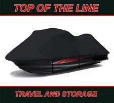 """BLACK 600 DENIER Jet Ski Cover PWC for 3 seater jet ski 120""""-129"""" in length"""