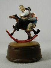 Norman Rockwell 'Gramps At The Reins'' Child Figurine  NRR-609M Musical COA NIB