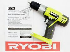 "RYOBI ONE PLUS 18v VOLT 1/2"" INCH LITHIUM-ION NICAD CORDLESS DRILL DRIVER P271"