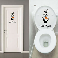 Olaf Let it Go Toilet Seat Wall Stickers Frozen Disney Style Vinyl Decals Funny