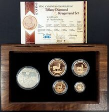 2003 Tiffany Diamond Krugerrand Set! Four gold coins! One silver coin w/Diamond!