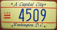 """1990s WASHINGTON D.C. DISTRICT OF COLUMBIA """"A CAPITAL CITY"""" LICENSE PLATE LOW #"""