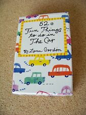 52 Fun Things to do in The Car by Lynn Gordon 1994 activity card set for kids