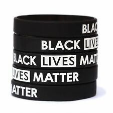5 Black Lives Matter Wristbands - Silicone Awareness Wrist Band Bracelets