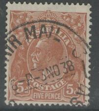 AUSTRALIA SG130 1932 5d ORANGE-BROWN USED