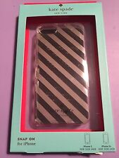 Kate Spade iPhone 5/5s Market Street Stripe Silver Snap On Hard Cover