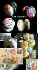 DESIGN YOUR KNOB PERSONALISED BESPOKE CUPBOARD KNOB DRAWER PULL CUSTOM MADE