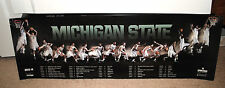 2013-14 Michigan State Spartans mens basketball schedule poster MSU TOM IZZO