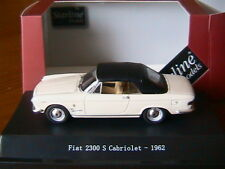 FIAT 2300 S CABRIOLET CLOSED 1962 WHITE STARLINE 560511 1/43 CONVERTIBLE CAPOTE