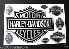 HARLEY DAVIDSON Motorcycle Bronze Bar Shield Biker Sticker Set 7 Stickers