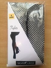 XLarge Black Fishnet Tights with Seam Back to 54 inch hips