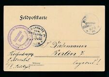 GERMAN SOUTH WEST AFRICA 1905 SOLDIERS MAIL FELD POSTCARD...COMMANDER CACHET