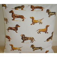 "NEW 16"" Cushion Cover Dachshund Wiener Dog Sausage Dogs Dachsunds Dachshunds"