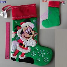 New Authentic Original Disney Mickey Mouse Holiday Christmas Stocking Santa Gift