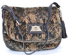 NEW JUICY COUTURE VELOUR LARGE $228 CIARA WILD THINGS MESSENGER PURSE BAG HOBO