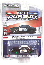 GREENLIGHT 42780 1990 FORD MUSTANG HIGHWAY PATROL POLICE 1/64 CHP GREEN MACHINE