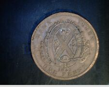 1842 Providence of Canada, One Penny Bank Token, Montreal, Copper  (Can-478)