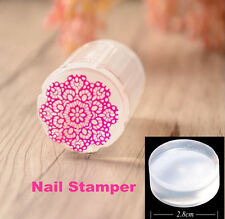 1Pc 2.8cm Clear Jelly Stamper Refill Head Only for Nail Art Stamping Stamper