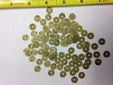 """SET OF 100 REPRODUCTION SMALL CHINESE METAL COINS 3/8"""" DIAMETER"""