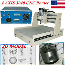4 AXIS 400W CNC 3040 ROUTER ENGRAVER CARVING MACHINE 3D CUTTER Desktop+Mach3 USA