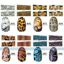 Wholesale 80pc Nail Packs Decal Wrap Leopard Print Animal Water Transfer Sticker