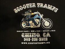 Harley - Genuine Scooter Tramps Black Beefy-T, Long Sleeve w/Flames, 2X-Large