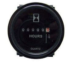 "12v 24v 36v Hour Meter for Marine Boat Engine 2"" Round Gauge"