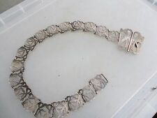Antique Silver Plate Curtain Tie Back Chain Holder Vintage Art Nouveau Belt Old